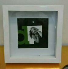 White square shadow box photo picture frame 5x5/9x9