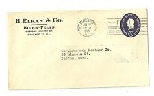 Air Mail Cover H. Elkan and Company Hides and Pelts Chicago to Boston 1955