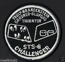 """EYES STS-8 Space Shuttle Challenger NASA  4"""" SPACE Mission PATCH Variant"""