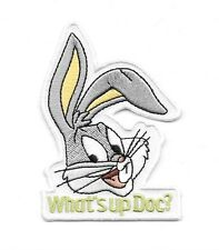 Looney Tunes Bugs Bunny Head Saying What's up Doc? Embroidered Patch, NEW UNUSED