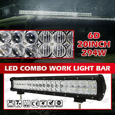 6D 20INCH 294W CREE LED LIGHT BAR COMBO OFF-ROAD PICKUP For Ford Jeep GMC Nissan