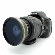 Wide Angle Macro Lens for Nikon DSLR D5300 D5200 D5100 D3300 D3200 D3100 52MM