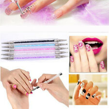 5Pcs Nail Art Crystal Brush Pen Painting Drawing Dotting Rhinestone Line Tool