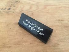 Placa Plaque LONGINES - The Lindbergh Hour Angle Watch - Black Negro