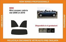 pellicola oscurante vetri pre tagliata mini cooper cabrio dal 2008-10 kit post