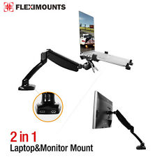 2in1 Computer Monitor Gas Spring Desk Mount Laptop Notebook holder stand 10-24""
