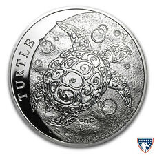2015 1 oz New Zealand Silver $2 Nuie Hawksbill Turtle Coin (BU) - SKU 0210