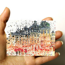 """ORIGINAL SMALL ART ACEO PICTURE WATERCOLOR ITALY PAINTING """"Florence"""" by artist"""