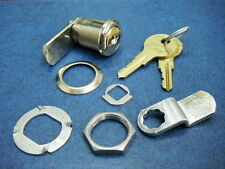 "KAR 73656 Single Bitted 7/8"" Cam Lock Set ILCO N54G 2 Keys"