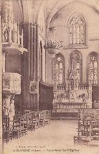 SIMORRE intérieur de l'église photo-éd tapie écrite