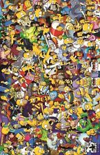 """THE SIMPSONS TV Show Poster Treehouse of Horror RARE Silk Wall Vintage 24X32"""""""