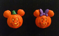 Mickey and Minnie mouse jack-o-lantern earrings