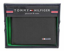 New Tommy Hilfiger Lloyd Men's Black Leather Bifold Passcase Credit Card Wallet