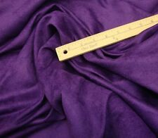 "Upholstery Suede Micro Purple Drapery Sofa Chair Fabric by the yard  58"" Wide"