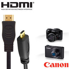 Canon Powershot N100, SX700, G1, SX600 Camera HDMI Micro TV Monitor 1.8m Cable