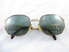 Yves Saint Laurent YSL Vintage Tortoise Gold Zig Zag Prescription Sunglasses