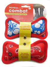 Bamboo Heavy Duty Squeaker Bone Tough Dog Puppy Toy Twin Pack