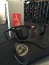 Brand New Ray Ban Clubmaster Classic RB3016 W0365-51-21 Sunglasses Black Frame