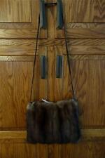 Excellent Russian Sable Fur Muff Purse for Coat Jacket #1970s