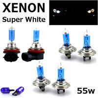 H7 H7 H11 55w SUPER WHITE XENON UPGRADE HID Headlight Bulbs 12v MAIN/DIPPED/FOG