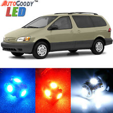 9 x Premium White LED Lights Interior Package Kit For Toyota Sienna 1998-2003