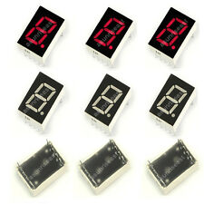 "10 × Red 7 Segment 0.5"" Inch LED Single Digit Display Common Anode 1 Bit 10-Pins"
