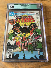 1980 New Teen Titans #1 CGC 7.0 Marv Wolfman SIGNATURE George Perez FIRST ISSUE