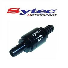 SYTEC MOTORSPORT ONE WAY FUEL VALVE CHECK NON RETURN - 8mm PUSH ON HOSE (BLACK)
