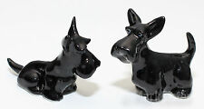 Figurine Animal Ceramic Statue 2 Black Scottish Terrier Dog - KD1-004