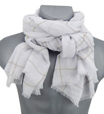 Men's Scarf white beige by Ella Jonte new season fashion Scarf soft scarf