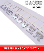 TITANIUM SILVER LAND ROVER BONNET LETTERING BADGE LETTERS DISCOVERY 3 4 DEFENDER
