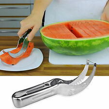 New Watermelon Slicer Server Knife Cutter Corer Scoop Stainless Steel Tool