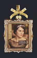KURT S. ADLER DOWNTON ABBEY GLASS PICTURE FRAME ORNAMENT - MARY/MR. CARSON