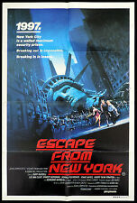 ESCAPE FROM NEW YORK One Sheet Movie poster John Carpenter
