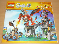 Lego Castle Bauplan für 70403, only instruction