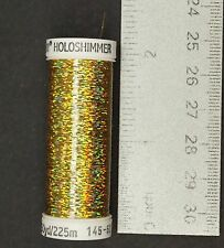 Sulky Holoshimmer Metallic Thread - Gold 6007 Creative Sewing/Fly Tying