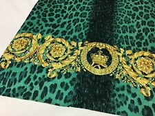 VERSACE 100% Viscose Jersey fabric... made in Italy 85 x 125 cm