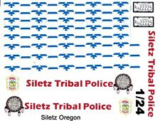 Siletz Tribal Police Crusier 1/25th - 1/24th Scale Waterslide Decals