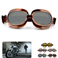 Retro Vintage Motorcycle Goggles Glasses Eyewear For Harley Chopper Cruiser