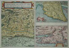 Carinthiae Ducatus / Histriae / Zara -Ortelius 1579 -Kärnten. Istrien, Dalmatien