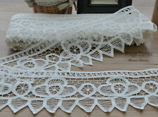 20 Yards Victorian White Battenburg Lace Trim Lot Pointed