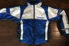 NWOT Womens Yamaha Winter Insulated Motorcycle Jacket White Blue Small