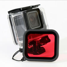 Waterproof Red Diving Lens Filter of Housing Case Cover for Gopro Hero 5 Camera