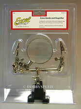 EXCEL DOUBLE CLIP EXTRA HANDS MAGNIFIER train track fly tie model kit #55675