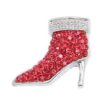 Clay Rhinestone high-heeled shoes Chunk Snap Button fit for Noosa Bracelet KA210