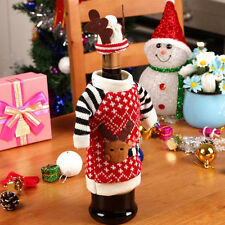 NewSanta Wine Bag Bottle Cover Deer Table Decor Christmas Gifts Caps Carriers