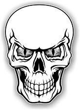 Realistic Gothic Skull With Cool Grey Evil Eyes Vinyl car bike sticker Decal