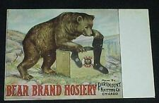 Vintage Bear Brand Hosiery Post Card Paramount Knitting Co. Chicago