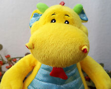 """Animal Adventure Yellow Dragon Sitting Shimmer Mystical Mythical Creature 9"""""""
