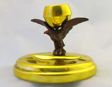 WWII WW2  Antique Metal Ashtray  with Eagle  Figurine